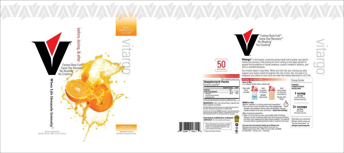 Orange 50 Scoop Label