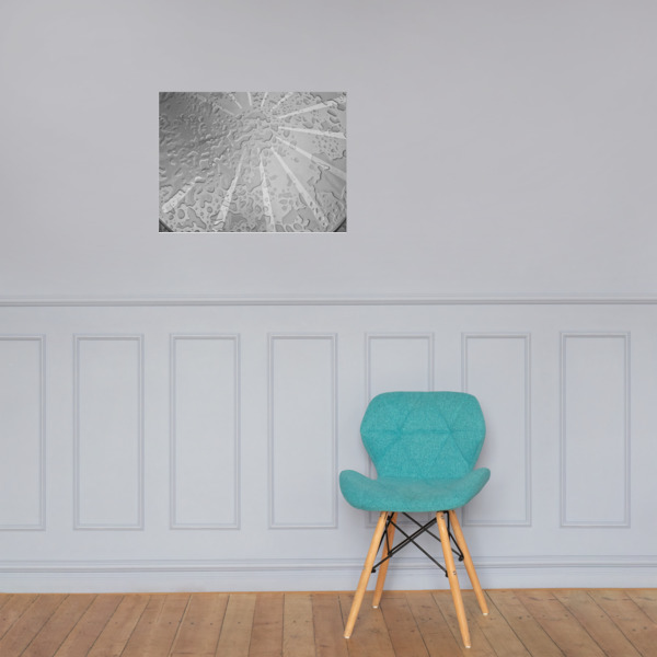 Water Drops on Photo paper poster