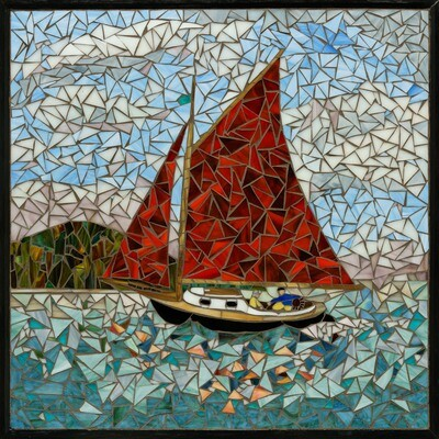 Ginger Carter -- Red Sails on Puget Sound