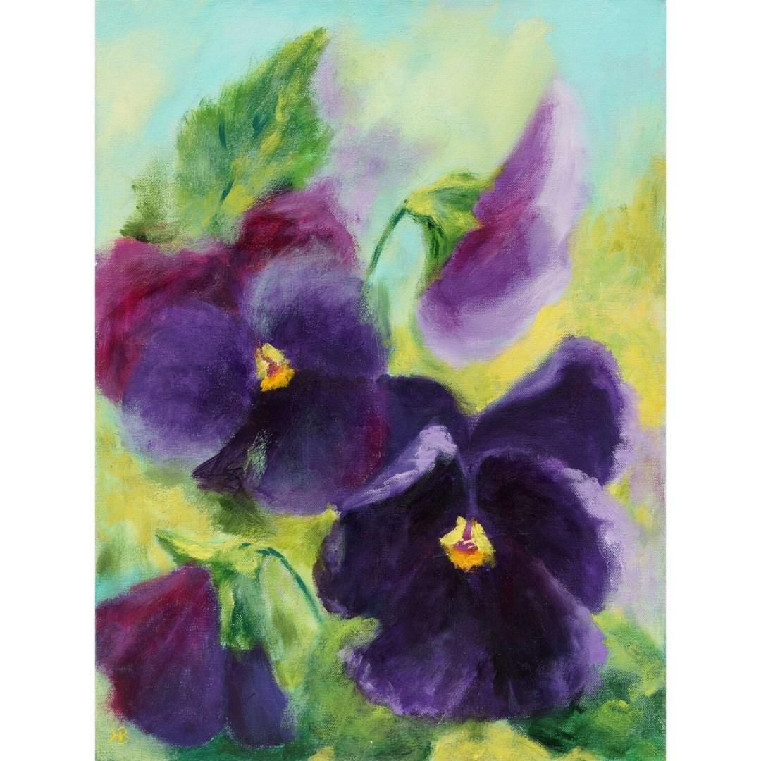 Hilda Bordianu -- Velvet Pansies