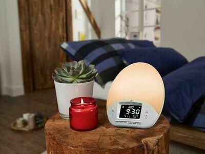 Despertador luminoso Despierta con una luz suave y un sonido armonioso.