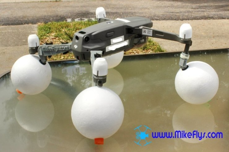 Mavic 2 Pro/Zoom Float Kit Smooth Styrofoam floats.