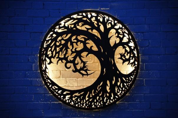Illuminated Wall Mount - Tree of Life Design 1000mm