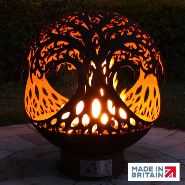 900mm Tree of Life Sphere Firepit - Gas Fueled