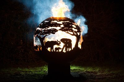 900mm Africa Themed Firepit