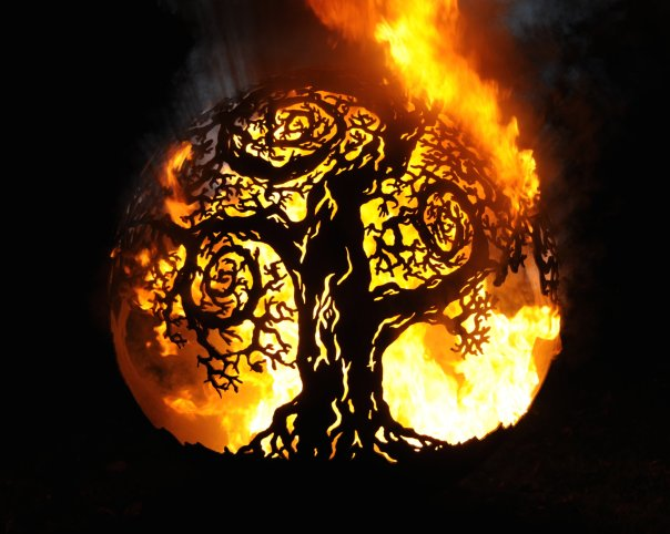 650mm Twisted Tree Firepit