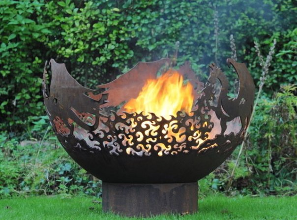 900mm Dragon Themed Firepit Bowl