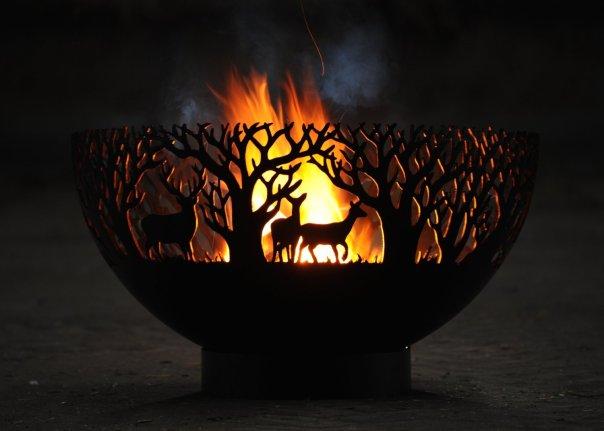 900mm Winter Themed Firepit Bowl