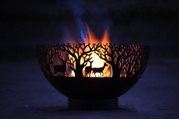 800mm Winter Themed Firepit Bowl