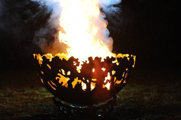 800mm Forest Themed Firepit Bowl 800ForestBowlOL