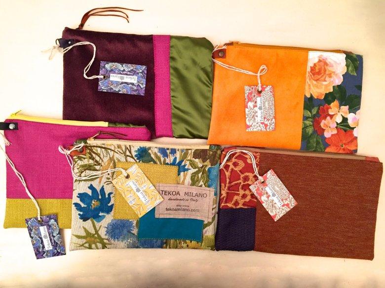 Ordina la pochette abbinata ai tessuti della tua borsa