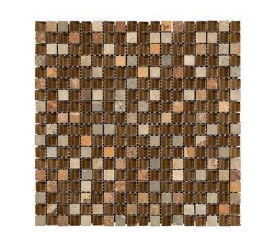 Mono Serra Mosaic Tile, Combo Brown, GL-626, 12 x 12,