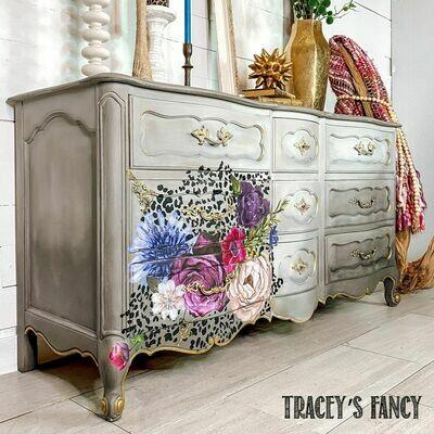 Leopard Floral Dresser