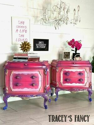 Whimsical Pink Princess Nightstands