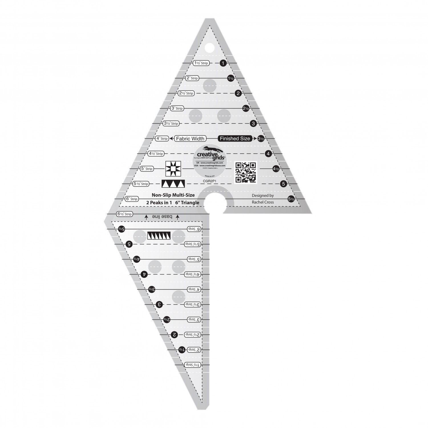 2 Peaks in 1 Triangle Ruler by Creative Grids