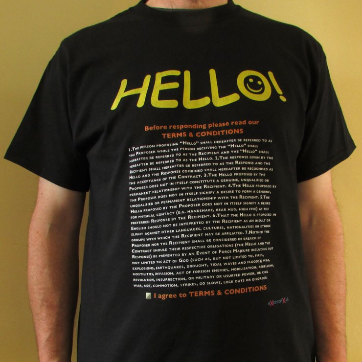 eXcentriX - Hello (GDPR compliant) T-shirt