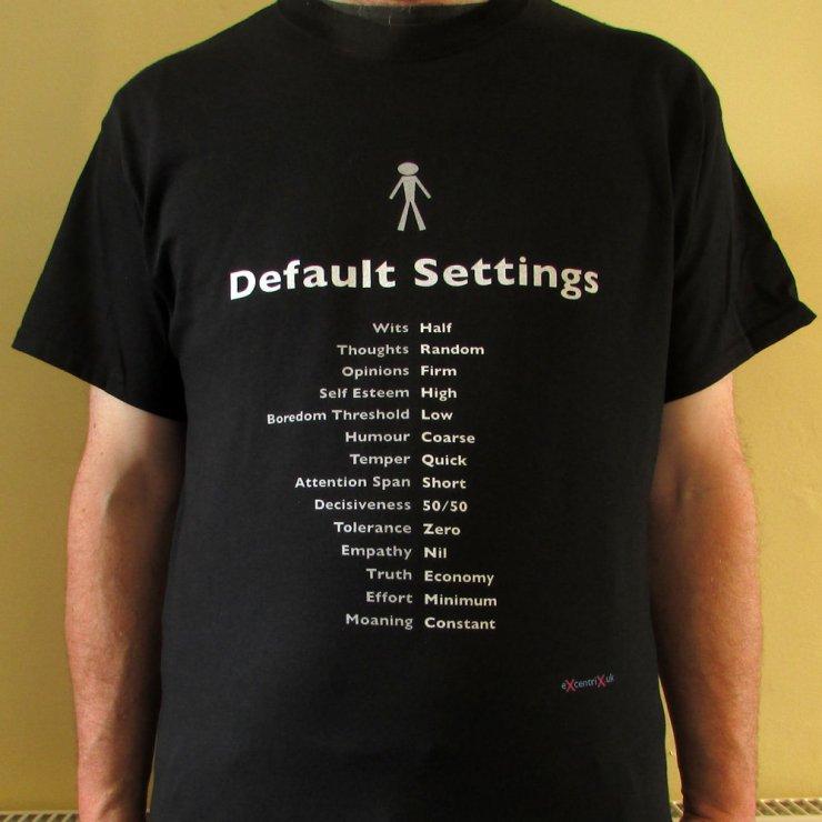 Default Settings T-shirt XTS00013