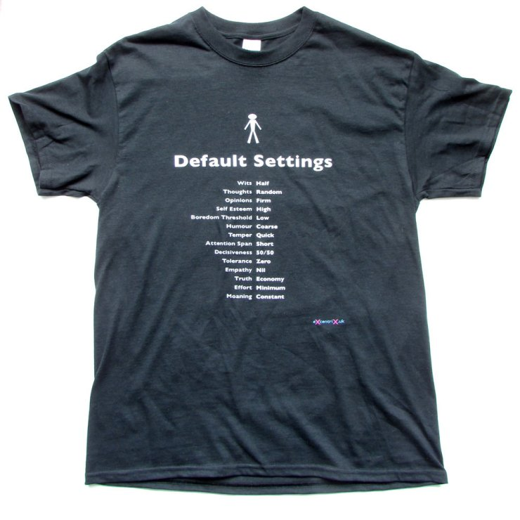 eXcentriX - Default Settings T-shirt