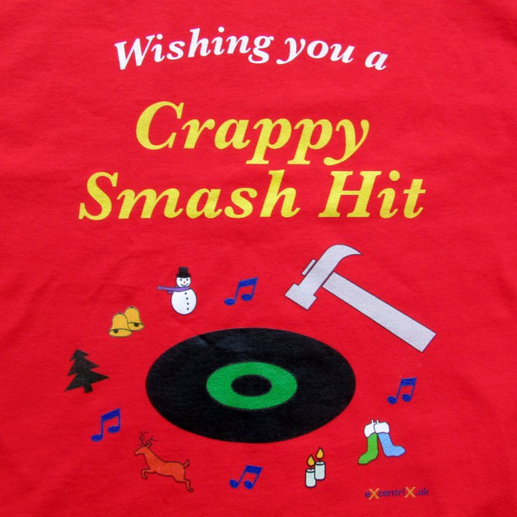 Happy Christmas Anagram 'Crappy Smash Hit' T-shirt XTS00016