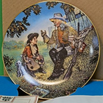 1986 Crown Parian Porcelain Collector Plate, American Folk Heroes Series, Buffalo Bill