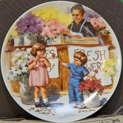 1986 Knowles China Collector Plate, Friends I Remember Series By Jeanne Down