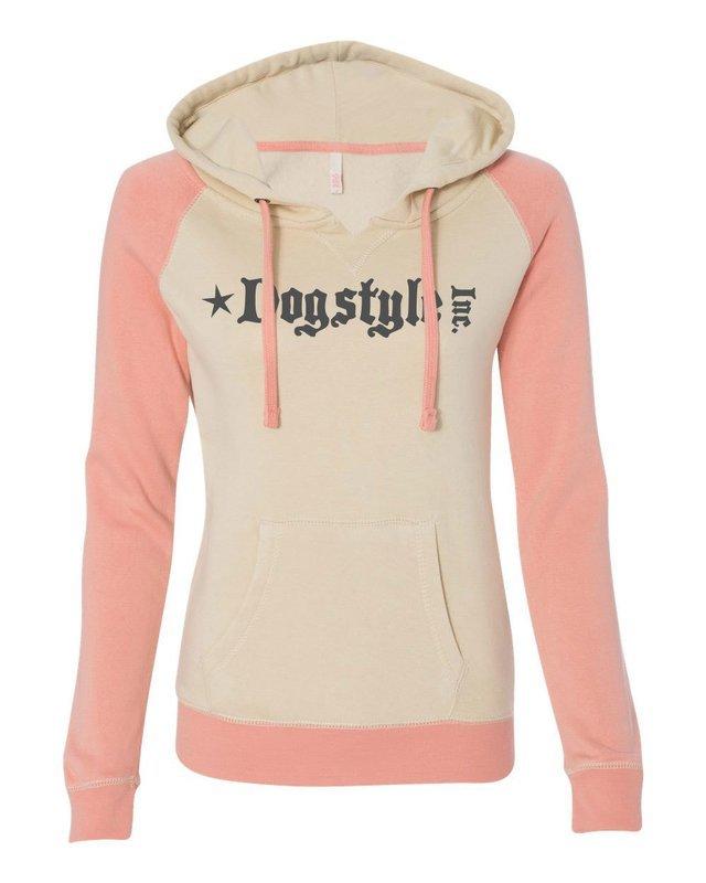 Ladies Pullover Sweatshirt - Sand/ Orangeade