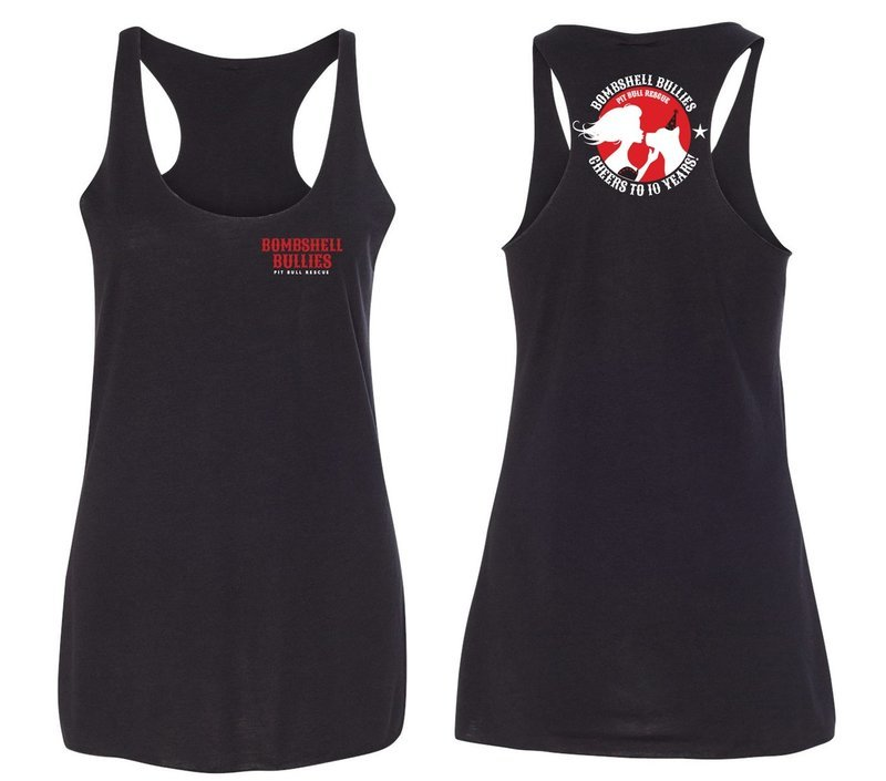 Bombshell 10th Anniversary Racerback Tanks - Black
