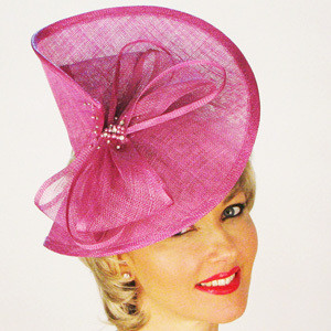 Violet Sinamay Fascinator