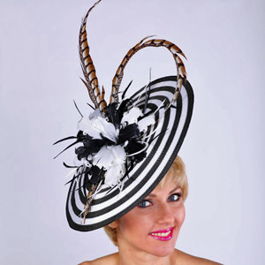 Stripe Disc Fascinator