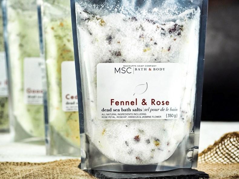 Sweet Fennel & Rose Dead Sea Bath Salts