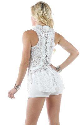 Lace Up Corset Style Tunic