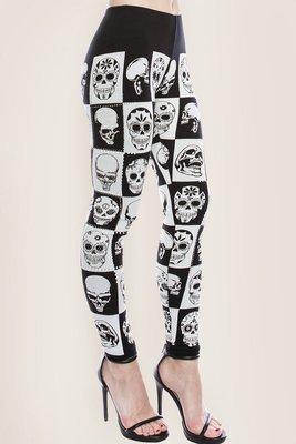 Skull and Rhinestone Leggings