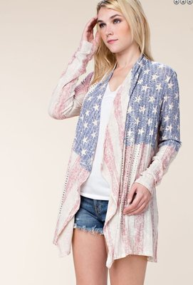 Vocal US Flag Cardigan