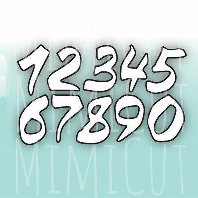 MIMICUT Metal Die Numbers