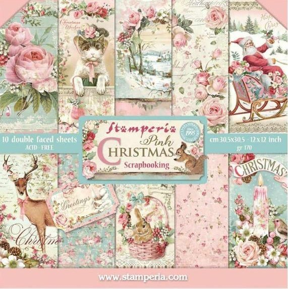 "Pink Christmas 12"" Paper Pack 00459"