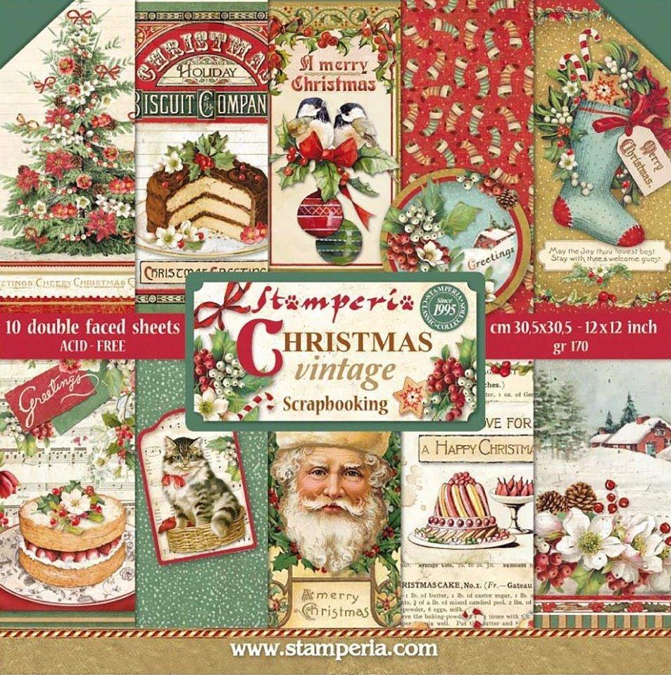 "Christmas Vintage 12"" Paper Pack 00462"