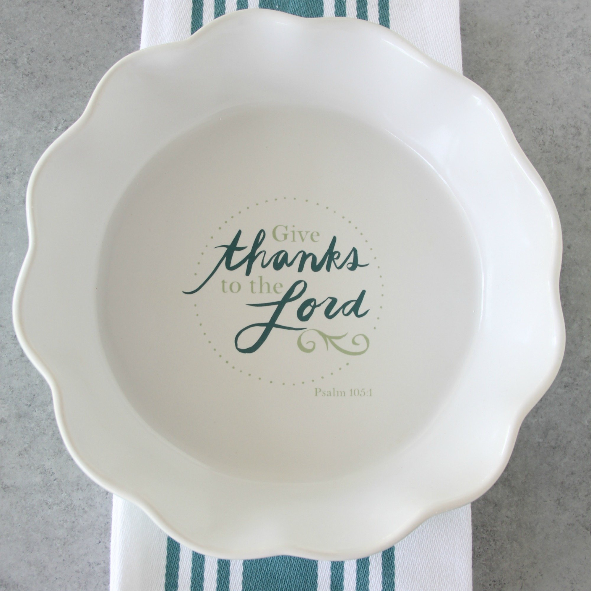 Give Thanks To The Lord Pie Plate 00014