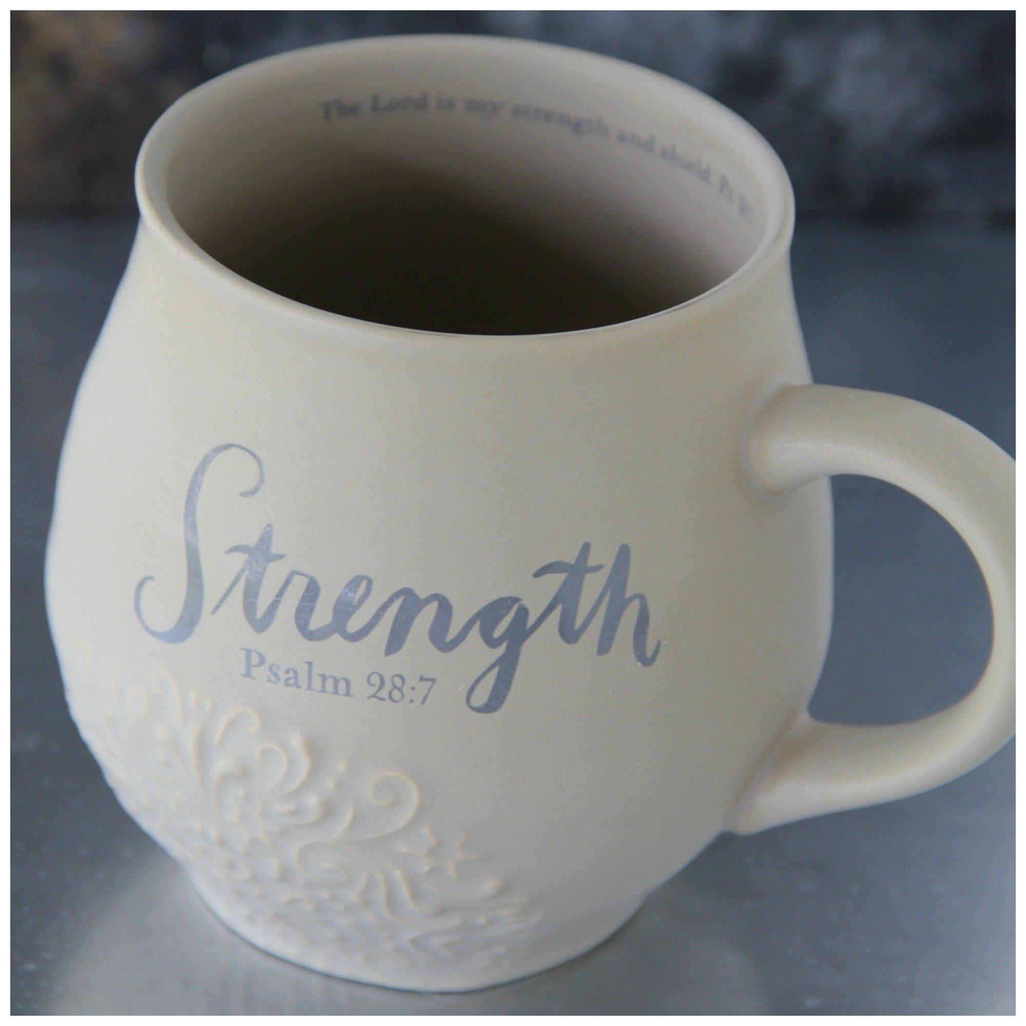 Strength Stoneware Scripture Mug 00016