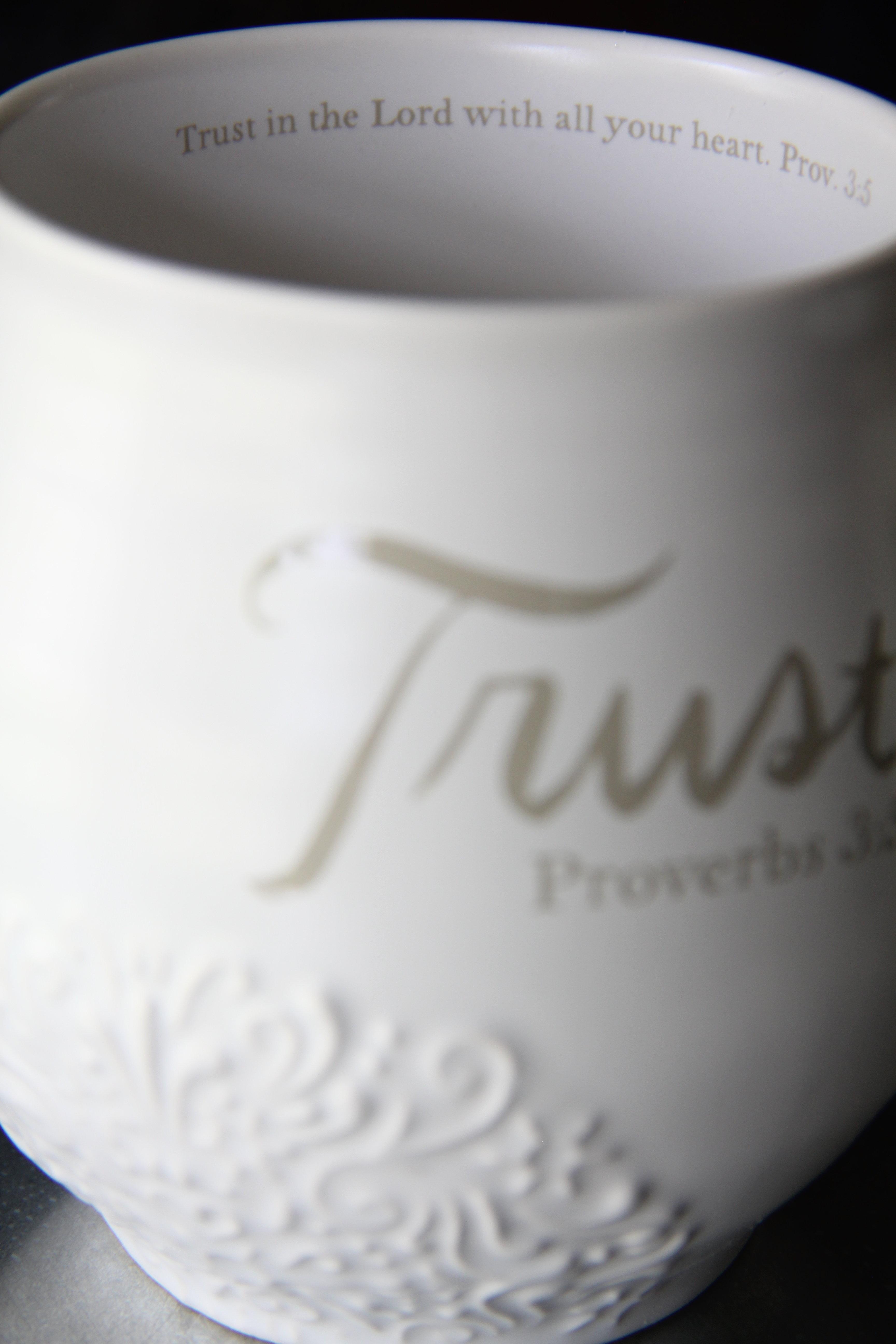 Trust Stoneware Scripture Mug