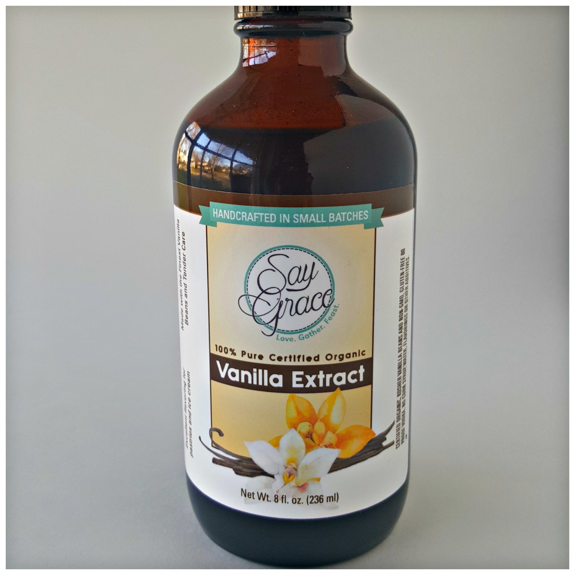 100% Pure Certified Organic Vanilla Extract (8 oz.) 00004