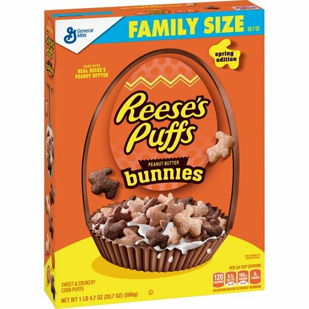 Reese's Puffs Bunnies Spring Edition Breakfast Cereal - 22.9oz - General Mills