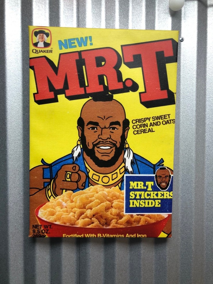 Mr. T Cereal, Cereal Box Canvas Art