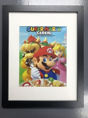 Kellogg's Super Mario Breakfast Cereal Marshmallow Box art