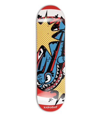 LIMITED EDITION KIDROBOT BOMB SKATEBOARD DECK