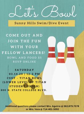 2020 March Swim Bonding Event