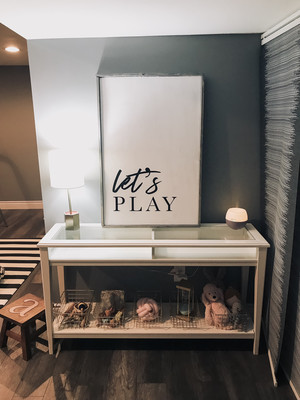 """Let's play"" Oversized Sign 24x36"