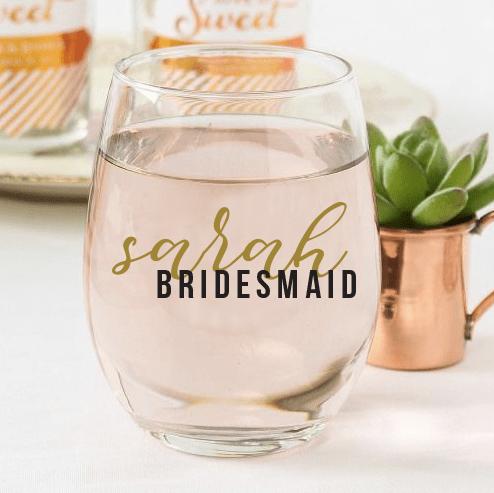 Bridesmaid Custom Wine Glasses 00011