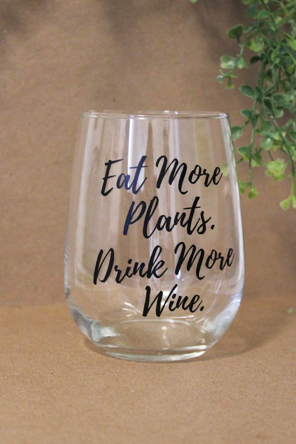 Wine Glass - Eat More Plants 00133
