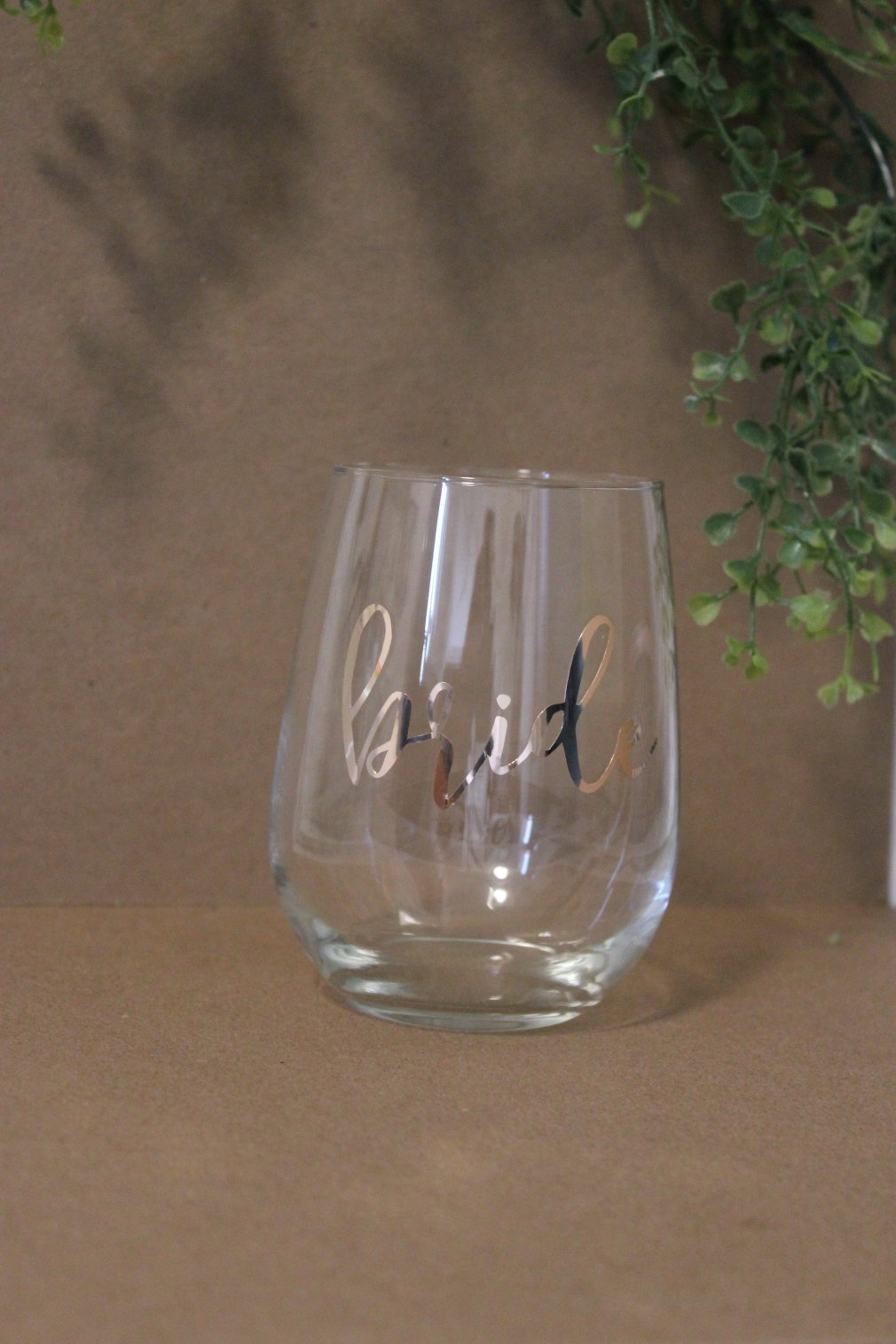 Wine Glass - Bride - Rose Gold 00139