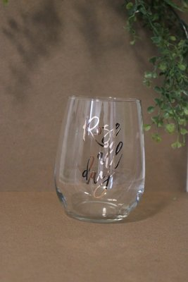 Wine Glass - Rose All Day - Rose Gold